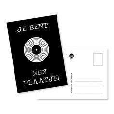 Kaart zwart wit van byBean    Een mooi ontwerp van byBean.  Om te versturen maar ook leuk als decoratie in huis aan een woonketting of in een lijstje .    Formaat A6 en gedrukt op 350 grams papier.   Zeg het m - € 1,50