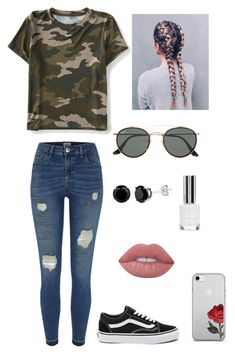 """Untitled #272"" by britney-pitts ❤ liked on Polyvore featuring Aéropostale, River Island, Vans, Lime Crime, Ray-Ban and Topshop"