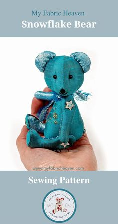 Selling Handmade Items, Handmade Products, Etsy Handmade, Handmade Crafts, Diy Crafts, Teddy Bear Sewing Pattern, Tiny Teddies, Sewing Toys, Diy Toys