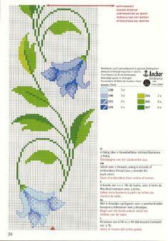 blaue Blumenranke