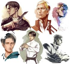 Levi and Erwin Levi And Erwin, New Image Wallpaper, Tragic Love Stories, Eruri, Man In Love, Me Me Me Anime, Attack On Titan, Art Sketches, Shingeki No Kyojin
