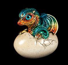 "Windstone Editions ""Jungle Flame"" Hatching Dragon Fantasy Animal Statue | eBay"