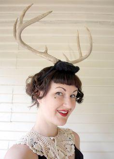 deer antler headband black 2 with natural antlers headdress head dress head band