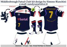Middlesbrough Futsal Club kit design Vol.3 by Simone Bianchini
