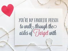 Favorite Person Target Card Rustic Greeting Card by Paperlaced