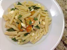 Casarecce with Corn, Tomatoes and Feta