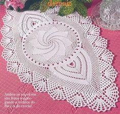 Crochet Table Topper, Crochet Table Runner Pattern, Crochet Tablecloth, Crochet Chart, Filet Crochet, Irish Crochet, Doily Patterns, Crochet Patterns, Crochet Bikini Pattern