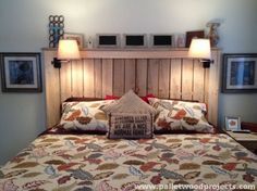 Rustic Barnwood Headboard With Lighting  Gage Collection By ReBarnCHF On  Etsy Https://www.etsy.com/uk/listing/121246542/rustic Barnwoou2026 | Bedroom  Ideas ...