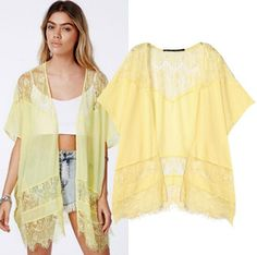 Woman Cardigans Hollow Out Chiffon Women Lace Blouse Camisa Feminina Medium-long V-neck Sexy Blusa Coat