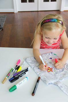Color Me Fabric Tote DIY  #michaelmiller #fabrics  #coloring #textil #creative #painting #doodle #colorme #pastels