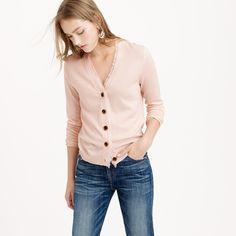 V-neck cardigan sweater in fringe trim : Cardigans   J.Crew