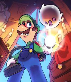 Luigi's Mansion fanartvi Mario Comics, Luigi's Mansion, Super Mario Bros, Number One, Video Games, Mermaid, Geek Stuff, Mansions, Anime