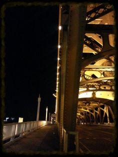 A night stroll by a bridge