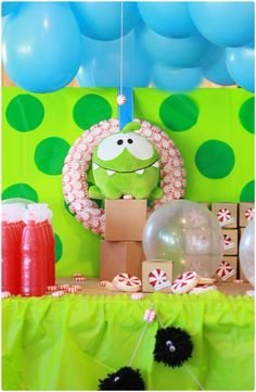 Om Nom Monster Birthday Party <