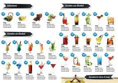 Plantilla Gratuita para Carta de Bebidas y Cócteles