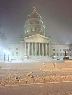 West Virginia State Capital during winter storm Jonas, January 2016