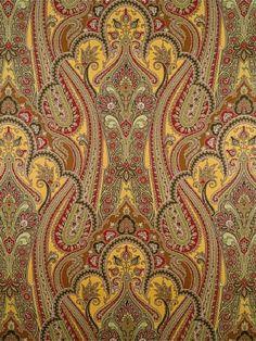 DecoratorsBest - Detail1 - Scala WP81641-002 - OMarra - Gold Red Green - Wallpaper - DecoratorsBest