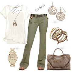 Casual Pants, created by jill-hammel on Polyvore wearables-i-like