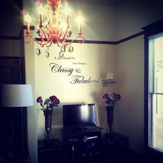 a girl should be two things... LOVE my new apartment :))