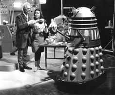 The movie 'Dr. Who' (Peter Cushing) and friends.