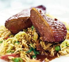 Tender duck breasts with subtle Chinese spice, finished with a ginger-infused oriental gravy