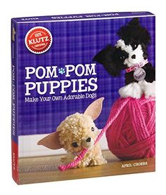 Klutz Pom-Pom Puppies Is one toy that creates fun in our house, our 10 year old loves it!! Pom Pom Puppies, Cute Puppies, Cute Dogs, Puppy Crafts, Make Your Own, Make It Yourself, Pom Pom Maker, Craft Kits For Kids, Pom Pom Crafts