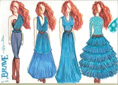 Disney - Merida  Fashion sketches more : http://audreygianelli.wix.com/audreygianelli