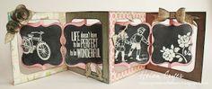 Vintagey Sizzix Accordion Album Card