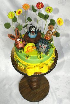 The famous child story for the bedtime, The little Mole cake. The mole and its friends...really loved by children! :-). Narozeninový dort Krteček od Dortovi.cz