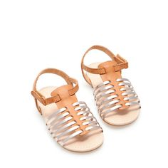 Sandal with metal straps - Shoes - Baby girl - Kids | ZARA United States