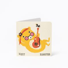 Hippy Hamster A-Z Card £2.50. From Acrobatic Ant to Weightlifting Walrus, inspired by retro learning flash cards, Kay Vincent's astonishing alphabetical animal cards will be sure to bring back your treasured childhood memories.