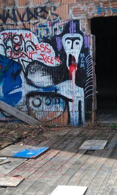 On an abandoned barn in Tivoli NY