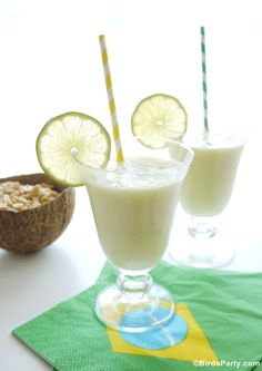 World Cup Party: Brazilian Pineapple  Coconut Batida Cocktail