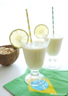 Recette Batida Brésilien à l'Ananas et Noix de Coco #CoupeduMonde #Brésil #Recettes #Cocktail