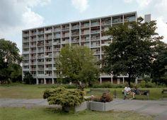 "germanpostwarmodern: ""Apartment building (1954-61) designed for the international building exhibition ""Interbau"" in 1957 in Berlin, Germany, by Egon Eiermann """