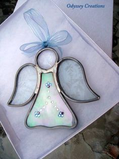 Angel Stained Glass Suncatcher  MADE TO ORDER by OdysseyCreations, $15.95