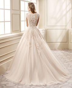 classic lace ballgown Eddy K wedding dress