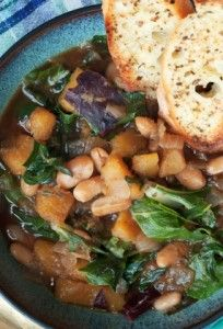 Hearty Vegan Slow Cooker Beans & Greens