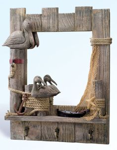 Mirror for the hallway, posted by Robin's Dockside Shop - Nautical Home Decor via onhomedecoration.blogspot.com