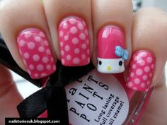 Hello Kitty from Nail Stories #nails #manicure #hellokitty