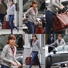 Ana collecting ransom money from the bank #FiftyShades