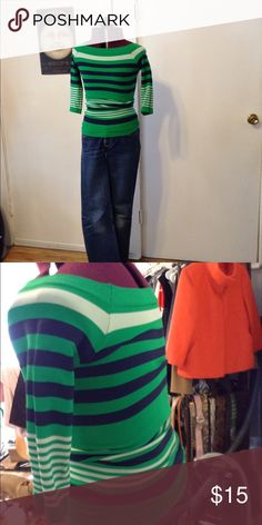 Tight spandex, striped, boat neck shirt. Tight spandex, striped, boat neck shirt. Tops Blouses