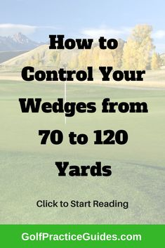 The hardest shot in golf is the 70 to 120 yard shot with your wedges or short irons. Learn a golf drill that will help build control from these distances. Golf Wedges, Golf Score, Golf Chipping, Chipping Tips, Golf Practice, Golf Videos, Best Golf Courses, Golf Instruction, Golf Tips For Beginners