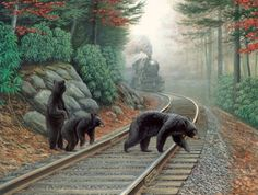 "Bear Tracks"""" 500 Piece Puzzle"