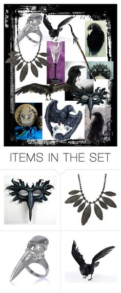 """The Morrigan Celtic Goddess of Ravens & Crows"" by whyte-raven on Polyvore featuring art"