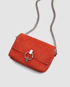 Image 1 of MINI SPLIT SUEDE CROSSBODY BAG from Zara Sorority Recruitment  Outfits b537cd4efa5b8