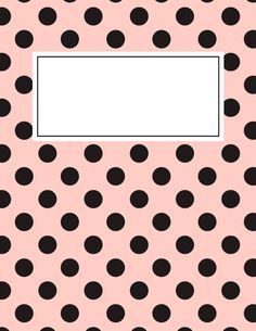 Free printable pink and black polka dot binder cover template. JPG and PDF versions available. Notebook Cover Design, Diy Notebook, Notebook Covers, Printable Stickers, Printable Paper, Free Printable, Agendas Diy, Goodnotes 4, School Binder Covers