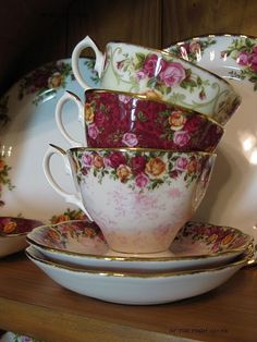 Royal Albert anyone? Fine bone china cups and saucers.
