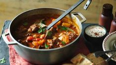 BBC - Food - Recipes : Beef goulash soup (Gulyas leves)The Hairy Bikers Beef Goulash Soup, Goulash Soup Recipes, Beef Recipes, Cooking Recipes, Healthy Recipes, Beef Broth, Delicious Recipes, Easy Recipes, Beef And Potatoes