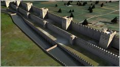 Reconstruction: The Theodosian Walls of Constantinople, which proved impregnable during a siege. (Byzantium 1200)